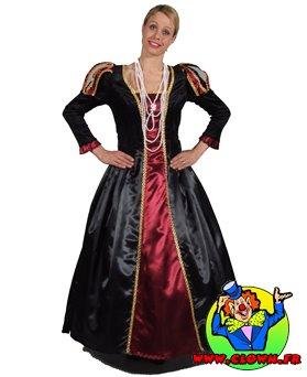 Location déguisement Robe noire et rouge