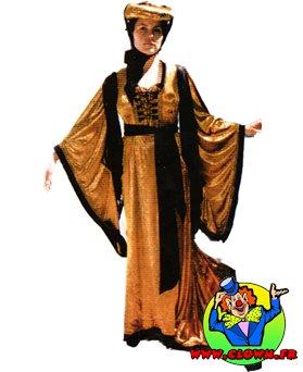 Location déguisement Robe renaissance dorée