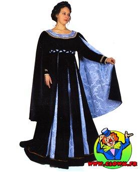 Location déguisement Robe noire bleue