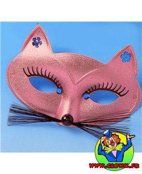 Loup chat rose métallique