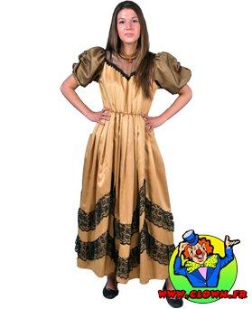 Location déguisement robe doré et noir
