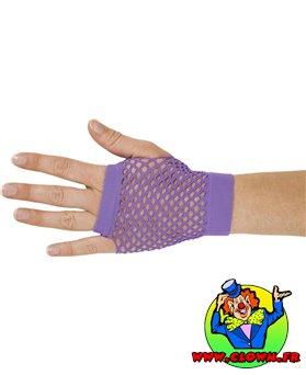 Mitaines résille violet