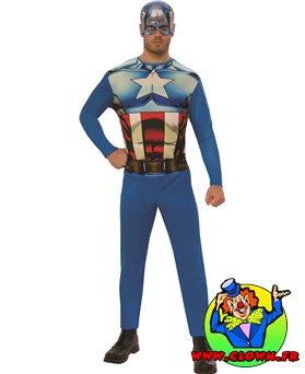 Déguisement adulte entrée de gamme Captain America