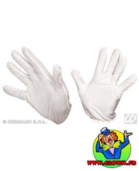 Gants coton blancs adulte