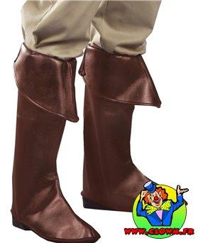 Couvre-bottes simili-cuir marrons