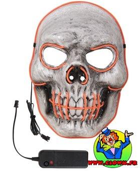 Masque PVC lumineux LED squelette