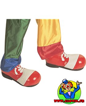 Chaussures clown homme rouge