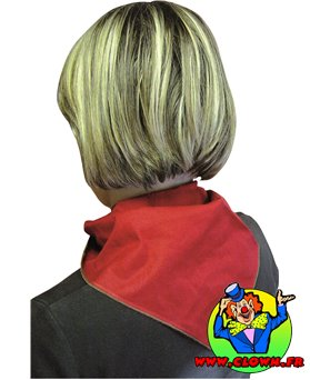 Foulard rouge triangulaire