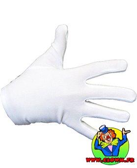 Gants polyester enfant blancs