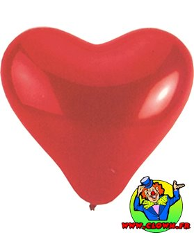 Ballons coeur rouge