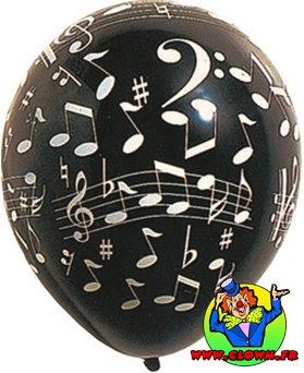 Sachet de ballons notes de musique