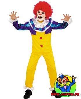 Déguisement petit clown terrifiant enfant