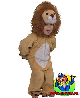 Déguisement peluche lion toon
