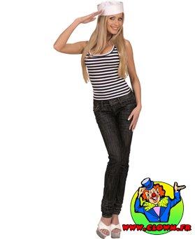 T-shirt mixte rayé femme