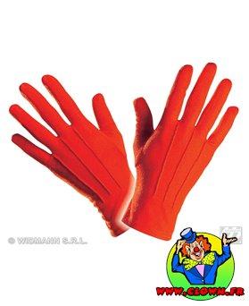 Gants coton rouges adulte