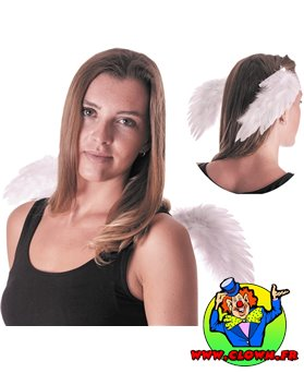 Ailes d'ange blanches sur clips