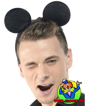Serre tete oreilles de souris adulte noir