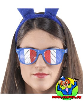 Lunettes supporters tricolores france