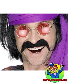 Moustache année 80 noir