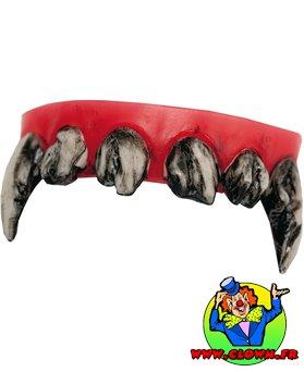 Dentier dents sales de monstre