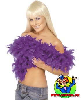Boa plumes violet luxe