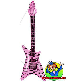 Guitare gonflable rock rose