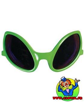Lunettes plastique alien vert