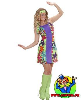Déguisement de Go-go hippie girl