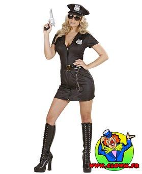 Déguisement de femme policier