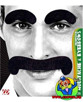 Moustaches et sourcils gentleman