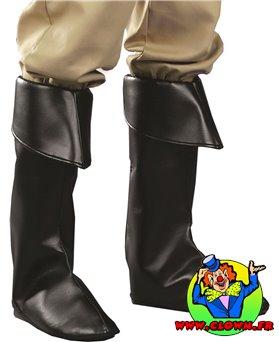 Couvre-bottes simili-cuir noirs