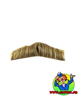 Moustache policier blonde
