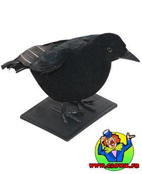 Corbeau en plumes noir